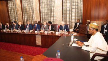 """People Are Crossing Sahara Desert To Europe Because Lake Chad Has Dried Up"" - Buhari Tells Italian Lawmakers 4"