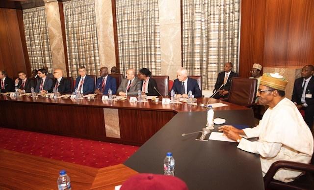 """People Are Crossing Sahara Desert To Europe Because Lake Chad Has Dried Up"" - Buhari Tells Italian Lawmakers 1"