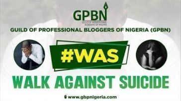 "Guild of Professional Bloggers To Embark on ""Walk Against Suicide"" 7"