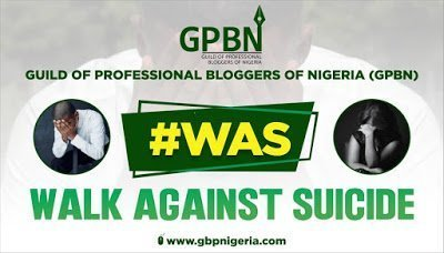 """Guild of Professional Bloggers To Embark on """"Walk Against Suicide"""" 1"""