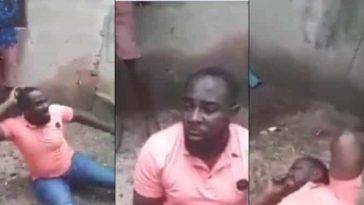 Full Grown Man Flogged In Public After He Was Caught Trying To Sleep With His Brother's Wife [Video] 3