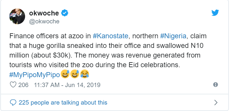Gorilla reportedly swallows N10million in Kano State Zoo 2