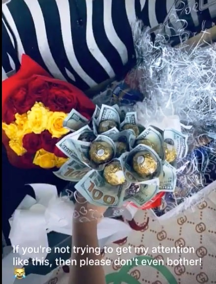 Nigerian Guy Sends Bouquet Of Dollars To His Crush In UNILAG Just To Get Her Attention [Video] 2