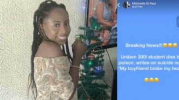 """My Boyfriend Broke My Heart"" - Says UNIBEN Student Before Committing Suicide [Video] 4"