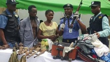 """""""My Husband Gave The Bag To Me"""" - Nursing Mother Caught With AK47 Rifle In Her Traveling Bag 1"""