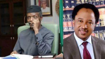 Shehu Sani Mocks VP Osinbajo For Saying He Can't Sleep Due To Extreme Poverty In Nigeria 1