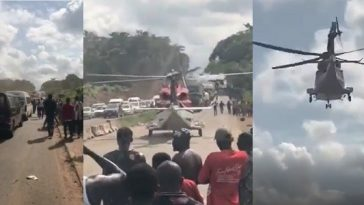 Stranded Rich Nigerian Got Picked Up By Helicopter On Lagos-Benin Expressway [Video] 7