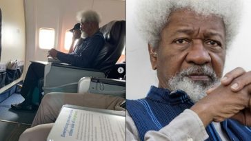 Wole Soyinka Finally Reacts To Viral Plane Incident Of Young Nigerian Man Who Ordered Him Out Of His Flight Seat 3