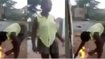 """""""Bible Is Fake & Powerless"""" - Says Lady As She Set Bible On Fire To Test God's Power [Video] 6"""