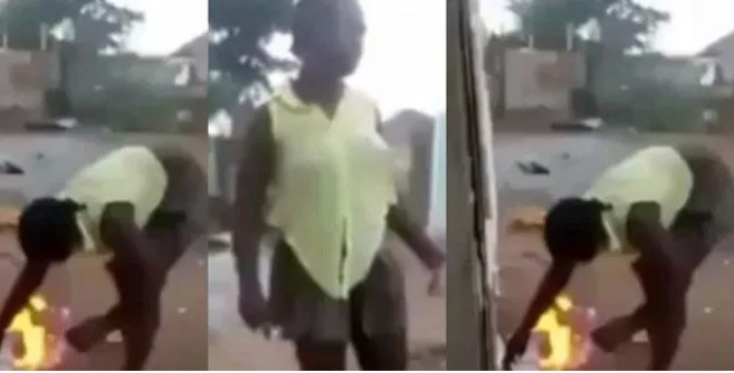 """Bible Is Fake & Powerless"" - Says Lady As She Set Bible On Fire To Test God's Power [Video] 1"