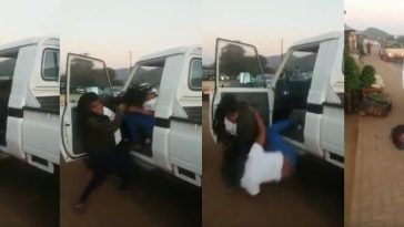 Angry Wife Caught On Camera Beating Up Husband's Girlfriend On The Street [Photos/Video] 3