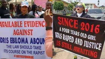 Tonto Dikeh Leads Protest At Abuja High Court Against Man Who Raped 4-Year-Old Girl [Photos] 5