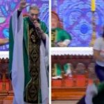 Drama As Lady Pushes Catholic Priest Down From The Altar While He Was Preaching [Video] 27