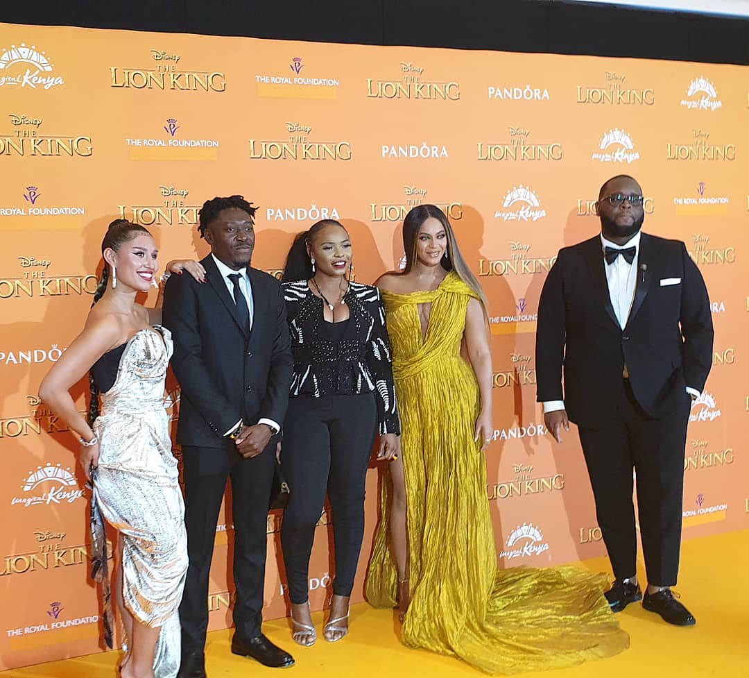 Yemi Alade Hooks Up With Beyonce And Jay-Z At 'Lion King' Movie Premiere In London [Video] 1