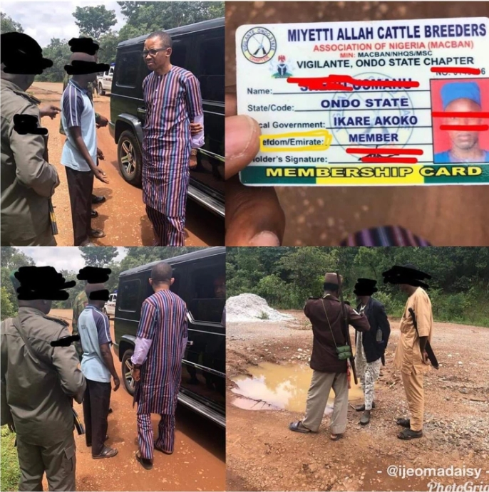 Outrage As Armed Miyetti Allah Members Set Up Vigilante Group, Checkpoint In Ondo State 1
