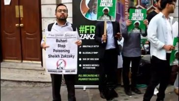 """Shame On You"" - Iranians Blasts Buhari's Government At Nigerian Embassy In London Over El-Zakzaky [Video] 9"
