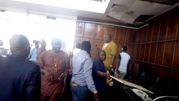 Pandemonium Among Lawmakers As Snake Falls From Roof, Disrupts Ondo Assembly During Plenary 7