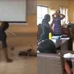 Anambra University Lecturer Falls In Class, Smashes Laptop To Teach Students Effect Of ICT [Photos/Video] 33