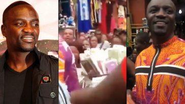 American Music Star, Akon Causes Stir At Idumota Market In Lagos [Video] 6