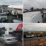 Protesting Drivers Block Kaduna-Abuja Highway Over Killing Of Colleague By Police 28