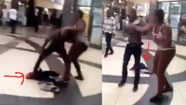 Outrage As Angry Lady Drops Her Baby To Fight Baby Daddy In A Shopping Mall [Video] 4