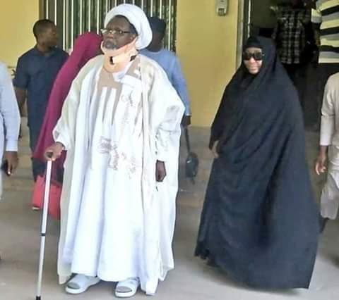DSS Whisk Away El-Zakzaky, Wife Through Back Door Upon Arrival At Abuja Airport 1