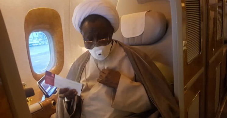 El-Zakzaky Rejects Federal Government's Jet, Takes Commercial Emirates To India 2