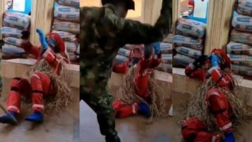 Viral Video Of Masquerade Begging For Mercy While Being Flogged By Nigerian Soldier 4
