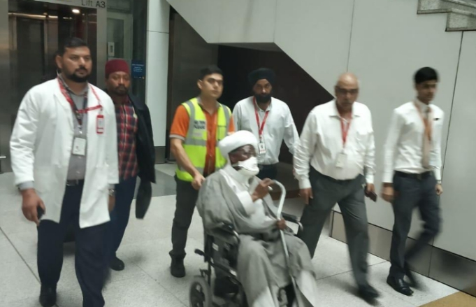 PHOTOS: Shiite Leader, El-Zakzaky And His Wife Arrives India For Medical Treatment 2