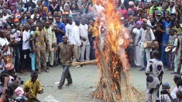 Masquerade Comes Out Unhurt After Being Set Ablaze During Festival In Ogun [Video] 3