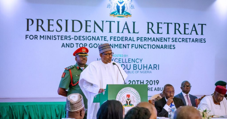"""""""Majority Of Nigerians Are Poor, They're Hoping For Better Life"""" - Buhari Tells New Ministers 1"""