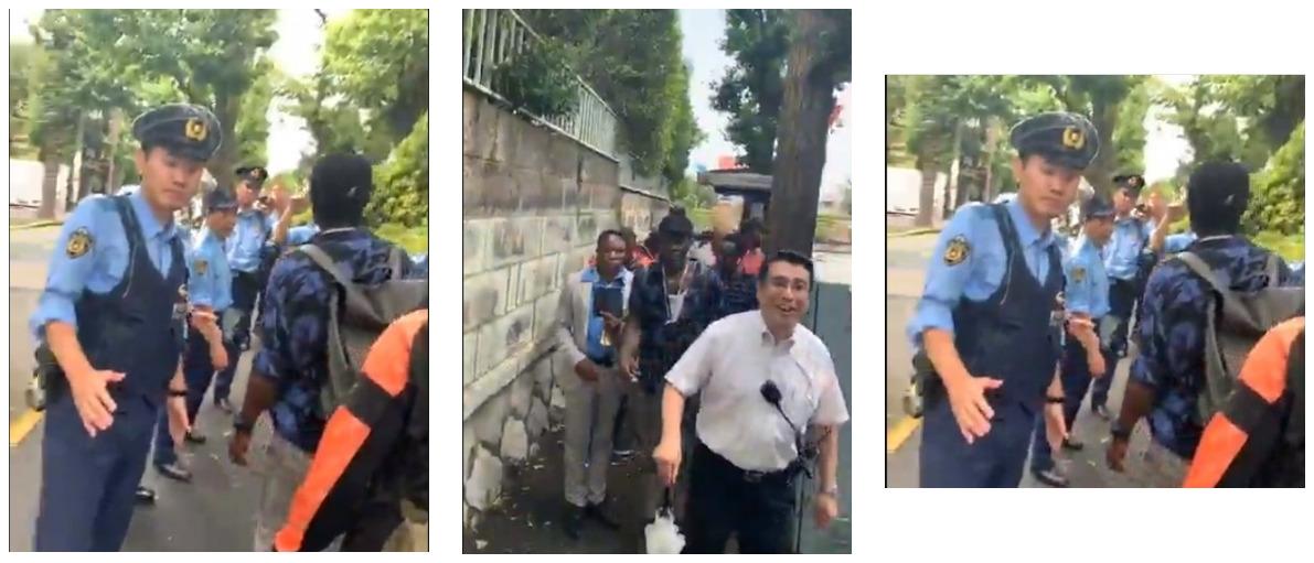 Japanese Police Blocks Protesting IPOB Members From Attacking President Buhari [Video] 1
