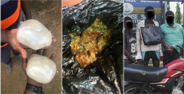 Serial Robbers Arrested After Snatching A Lady's Bag Only To Find Fufu And Soup Inside [Photos] 1