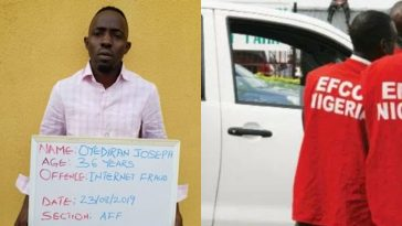 EFCC Arrests Joseph Oyediran, One Of Internet Fraudsters On FBI's 'Most Wanted' List 4