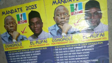 PHOTO: 2023 Presidential Campaign Posters Of Oshiomhole And El-Rufai, Spotted In Lagos 11