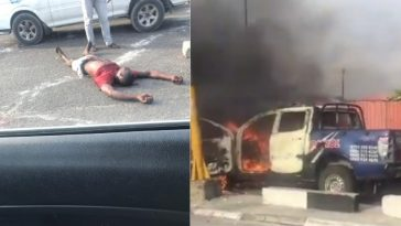 Xenophobia: One Protester Killed By Police As Mob Burns Van In Lagos [Video] 5