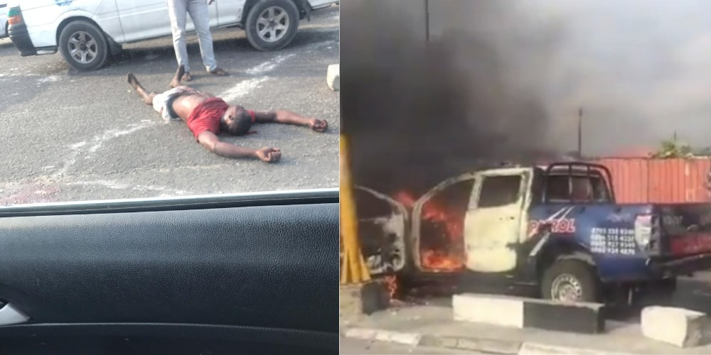Xenophobia: One Protester Killed By Police As Mob Burns Van In Lagos [Video] 1