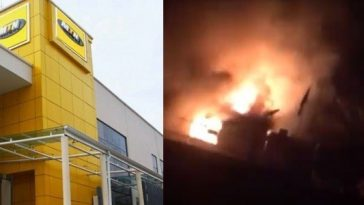 Xenophobic Attacks: Angry Nigerian Youths Burn MTN Office In Ibadan [Video] 7