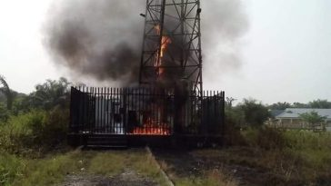 Xenophobic Attacks: Angry Nigerian Youths Set MTN Mast Ablaze In Ibadan [Photos] 7