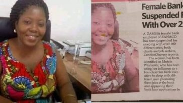 Female Banker, Mutale Winfridah Suspended For Sleeping With Over 200 Clients And Job Seekers 4