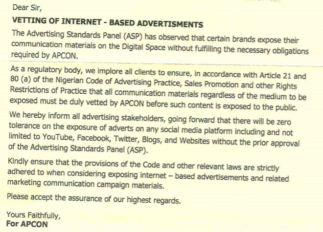 APCON To Start Charging Nigerians ₦25,000 Fee For Any Advertisement On Social Media 2