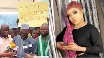 Angry Nigerian Youths Stages Protest Against Bobrisky, Say His Behaviour Is Ungodly [Video] 1