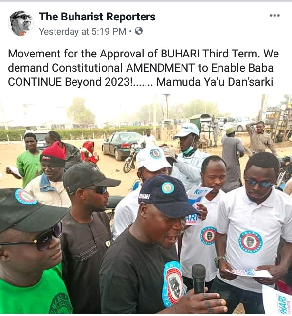 Confusion As President Buhari's Supporters Campaign For His 3rd Term In Office [Photos] 2