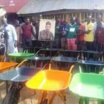APC Lawmaker Donates Wheelbarrow To Truck Pushers As Constituency Project [Photos] 26
