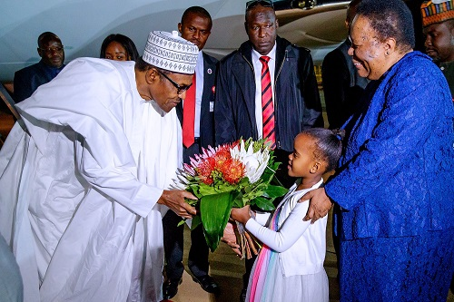 President Buhari, 10 Governors And Ministers Arrives South Africa For Three-Day Visit 3