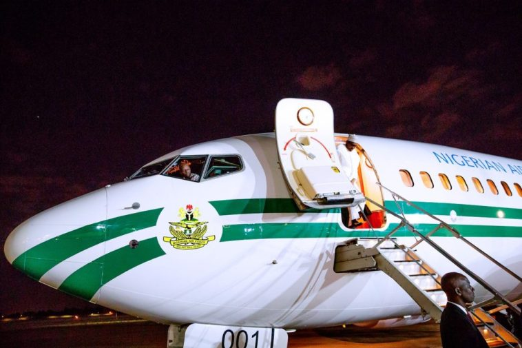 President Buhari, 10 Governors And Ministers Arrives South Africa For Three-Day Visit 1