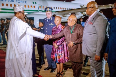 President Buhari, 10 Governors And Ministers Arrives South Africa For Three-Day Visit 4