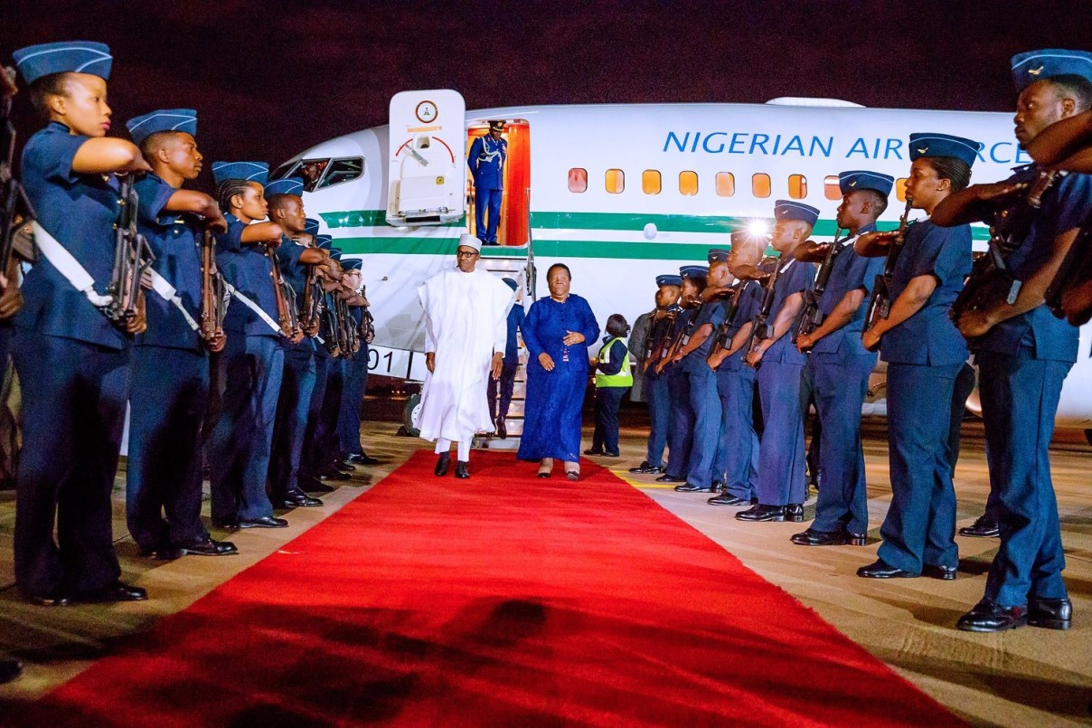 President Buhari, 10 Governors And Ministers Arrives South Africa For Three-Day Visit 2