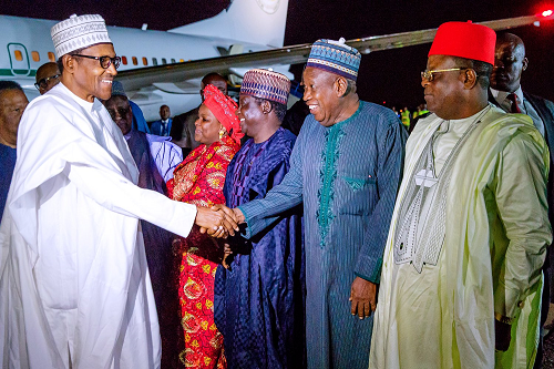 President Buhari, 10 Governors And Ministers Arrives South Africa For Three-Day Visit 5