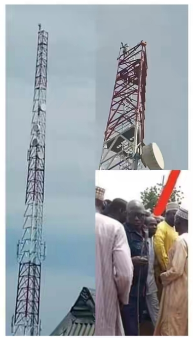 Man Climbs Mast In Kebbi, Vows Not To Come Down Till President Buhari Resigns [Photos] 2